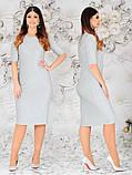 Женское красивое платье  батал с 48 по 62 рр трикотаж с люрексом, фото 5