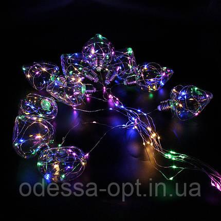 Xmas гирлянда в виде Лампочки сердца 150 Led Мультицветная 10M 8CM 3M1,5M, фото 2