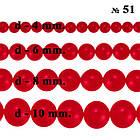 Бусины 6 мм Стеклянные Жемчуг для Бижутерии Карминные Красные Перламутровые тон 51, Рукоделие, Фурнитура, фото 6
