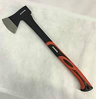 """Топор (для дров) с усиленной рукояткой """"Intertool 800 гр"""". Прорезиненная ручка из фибергласса."""