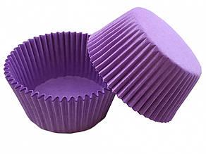 Бумажные формы (тарталетки) для кексов, капкейков 50*30 см Фиолетовые