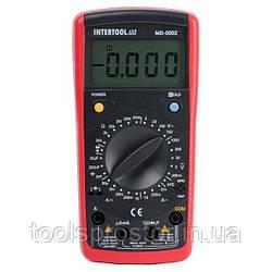 Мультиметр цифровий CAT III-600В/CAT II-1000В INTERTOOL MD-0002