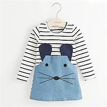 """Дитяче плаття """"Смугаста мишка"""" на 3 роки"""