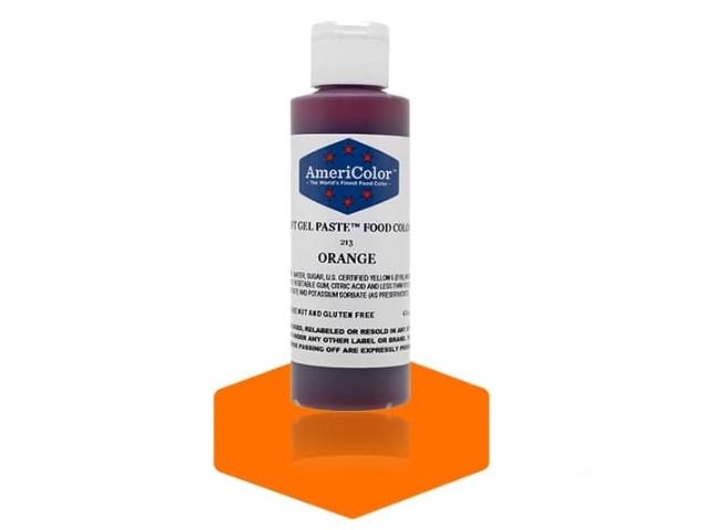 Краситель гелевый AmeriColor (Америколор) Оранжевый 128 г