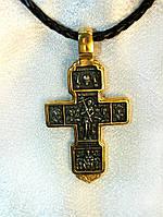 Крест с позолотой. Распятие. Благорозумный Разбойник.