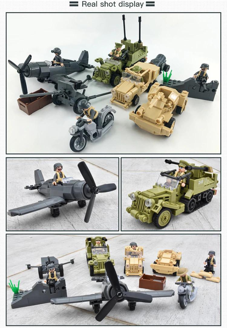 """Конструктор Sluban M38-B0812 """"Военный транспорт"""" 552 дет, фото 6"""