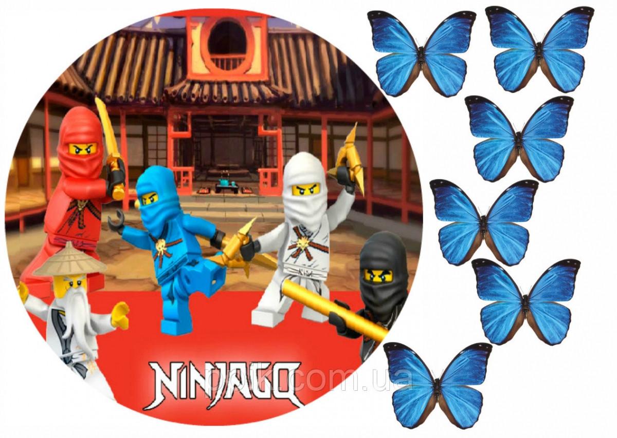 Вафельная картинка Ниндзяго 1