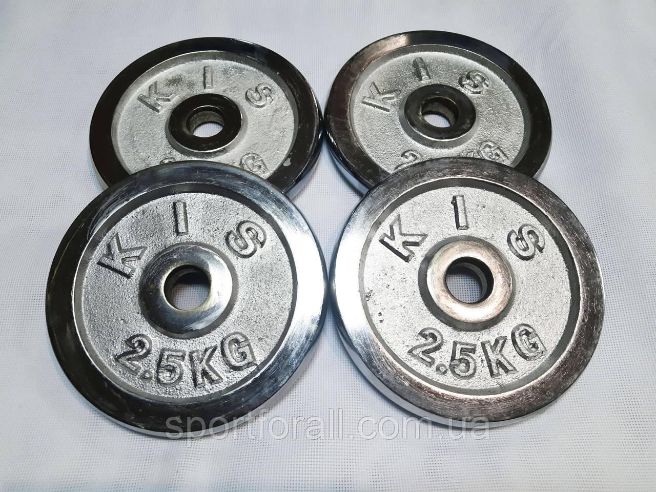 Блины (диски) хромированные d-27мм ТА-2,5кг x 4шт.