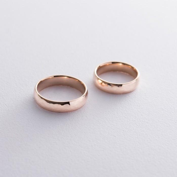 Золотое обручальное кольцо 5 мм (текстурное) обр00411