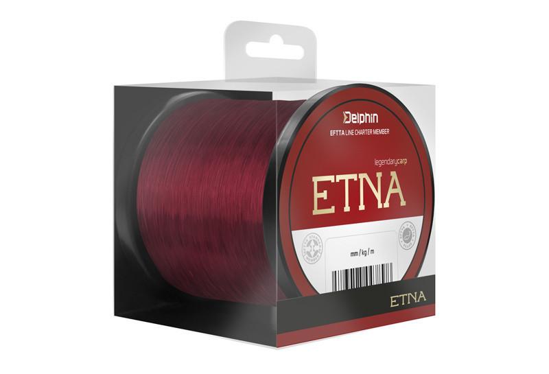 Коропова волосінь, волосінь на карпа, Волосінь Delphin ETNA 1100m / бордова 0,33 мм 18lbs