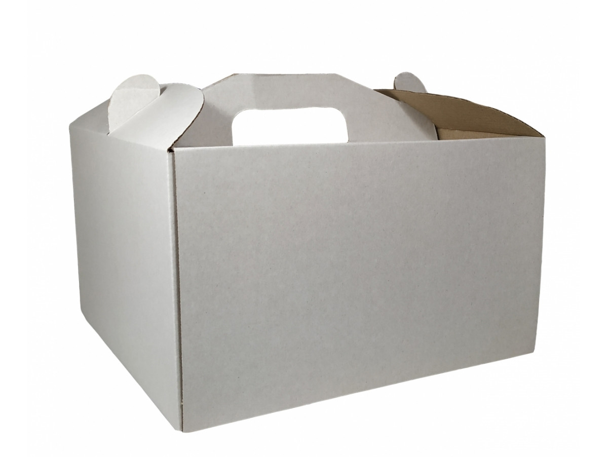 Картонная коробка для торта 3 штуки (350*350*200)