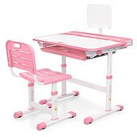 Парта ученическая детская Bambi M 3823A-8 Розовая | Комплект растущая парта и стул