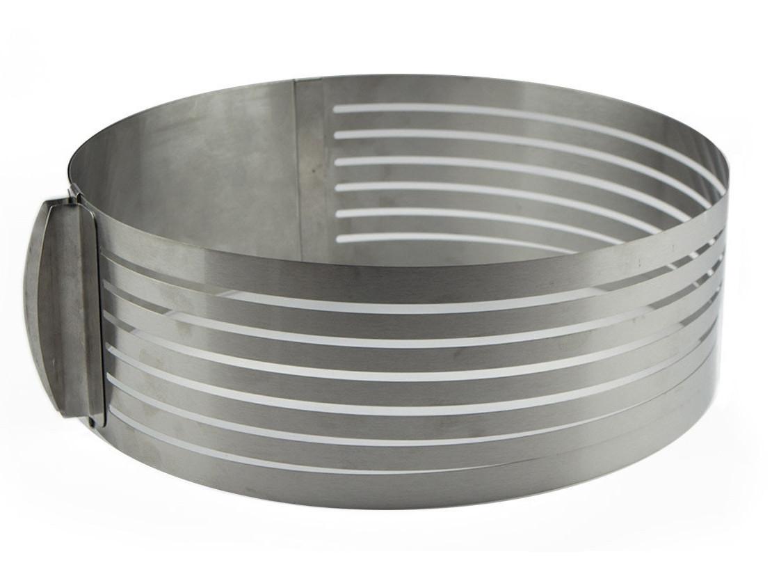 Кольцо раздвижное для нарезки бисквита от 15 см до 20 см, высота 13 см
