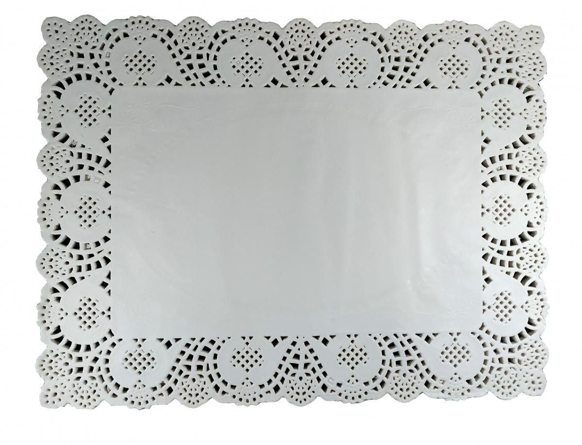 Салфетка ажурная бумажная 25*37 см
