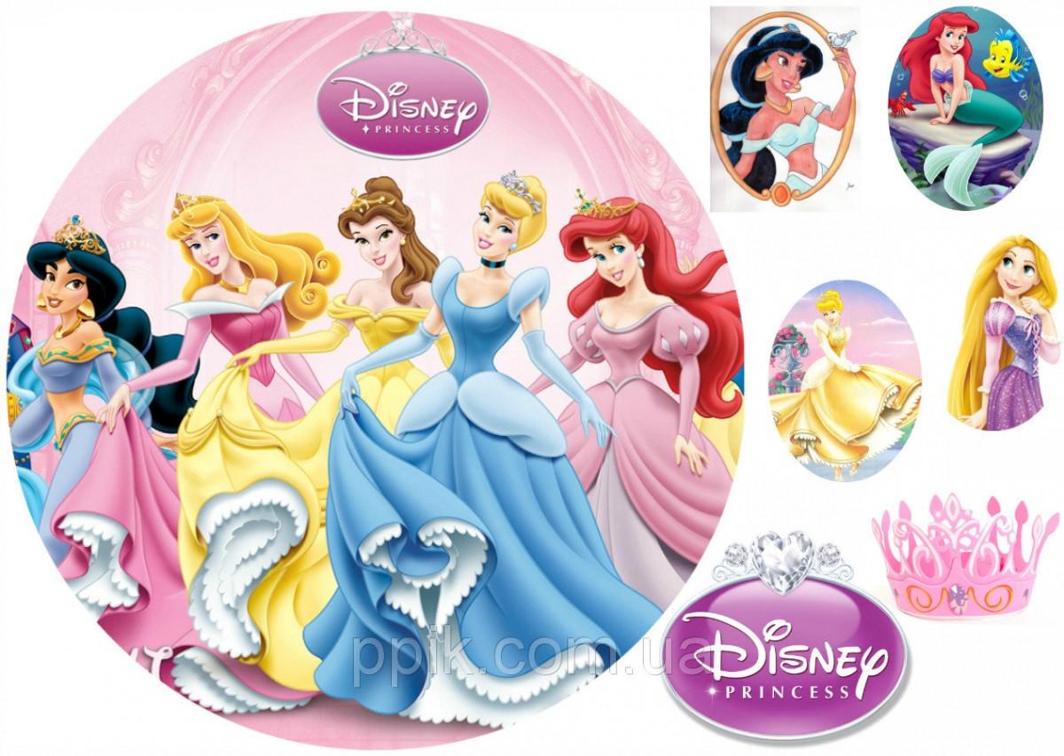 Вафельна картинка Принцеси Дісней 2