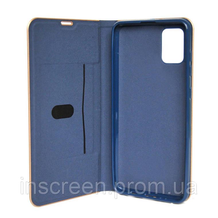Чохол-книжка Florence TOP 2 Samsung A515F A51 (2020) під шкіру синій, фото 2