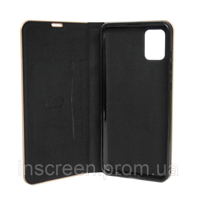 Чохол-книжка Florence TOP 2 Samsung A515F A51 (2020) під шкіру чорний, фото 2