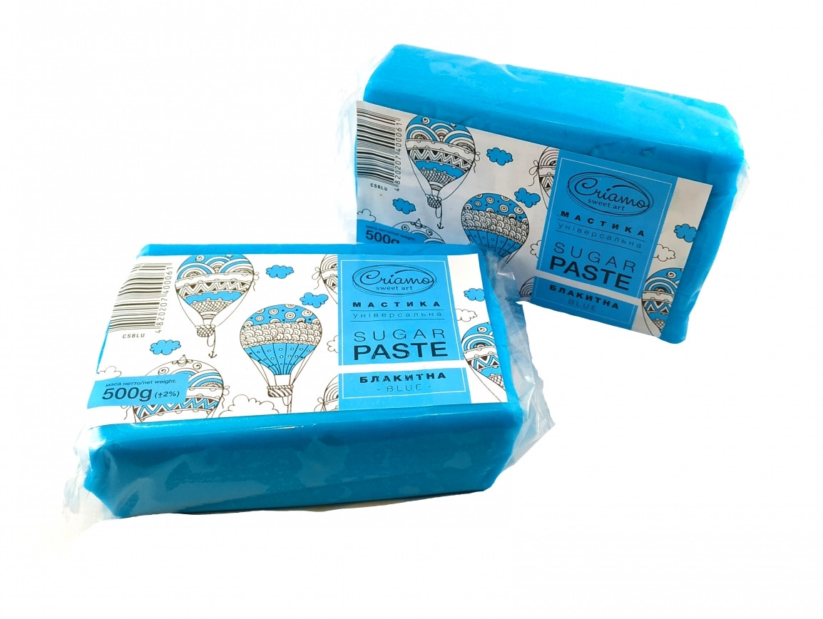 Мастика для тортов Criamo обтяжка 1 кг Голубая