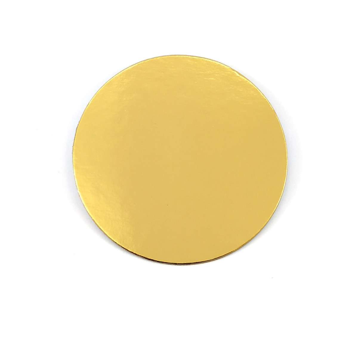 Подложка круг 28 см уплотненная 3мм, Золото/черная, 3 мм.