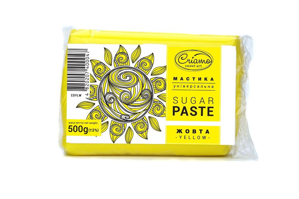 Мастика для тортів Criamo обтяжка 0.5 кг Жовта