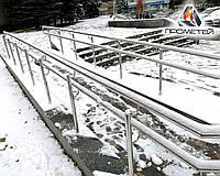 Подвійні поручні на пандуси з нержавіючої сталі - виробництво і монтаж, фото 1