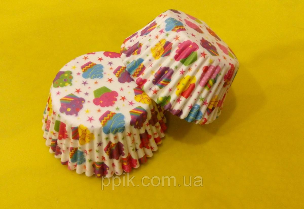 Тарталетки (капсули) паперові для кексів, капкейків Кексики 500 шт