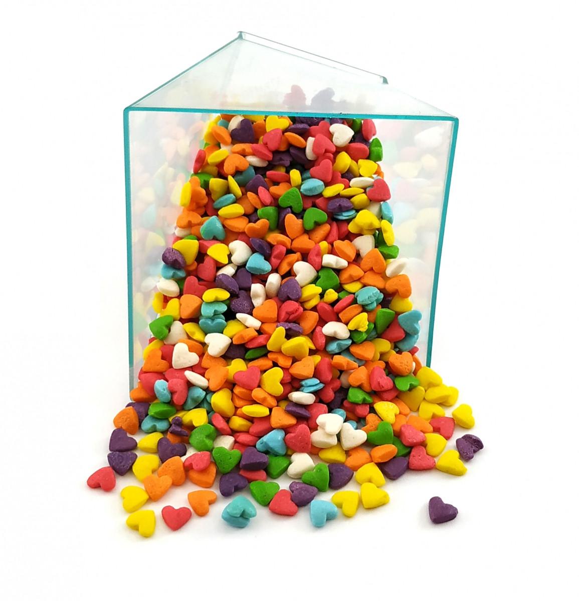 Посыпка кондитерская Разноцветные сердца 50 грамм