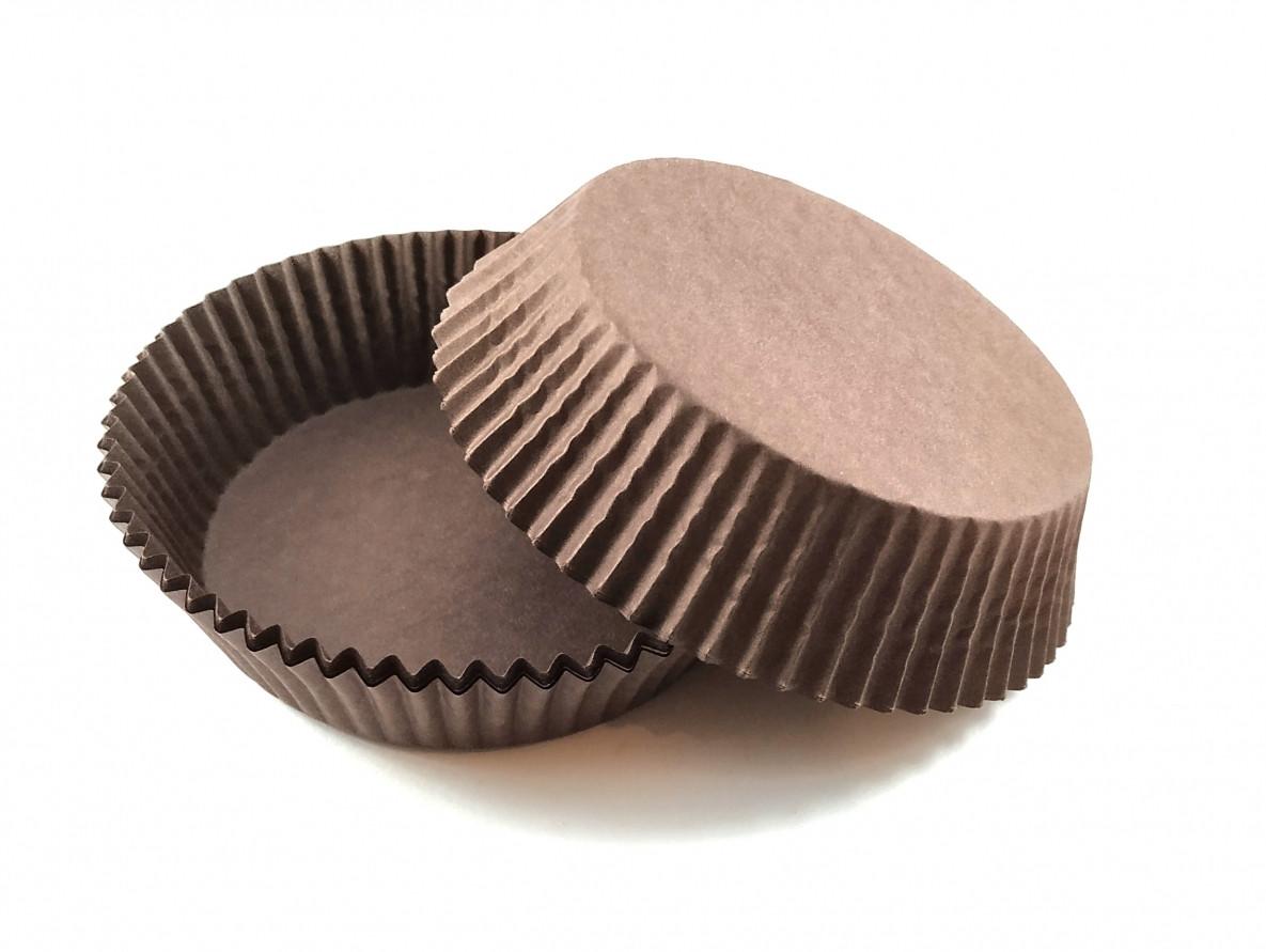 Тарталетки (капсулы) бумажные для кексов, капкейков коричневые 80*25 мм