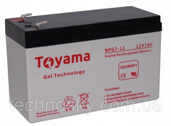 Гелевая батарея Toyama NPG 7-12 (12В , 7Ач)