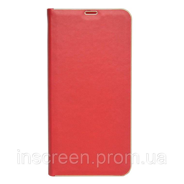 Чохол-книжка Florence TOP 2 Xiaomi Redmi Note 9 під шкіру червоний, фото 2