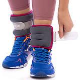 Утяжелители-манжеты для рук и ног Zelart 2шт x 1 кг, фото 5