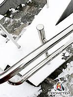 Пандусы с двойными поручнями из нержавейки для входа в пансионаты и дома престарелых