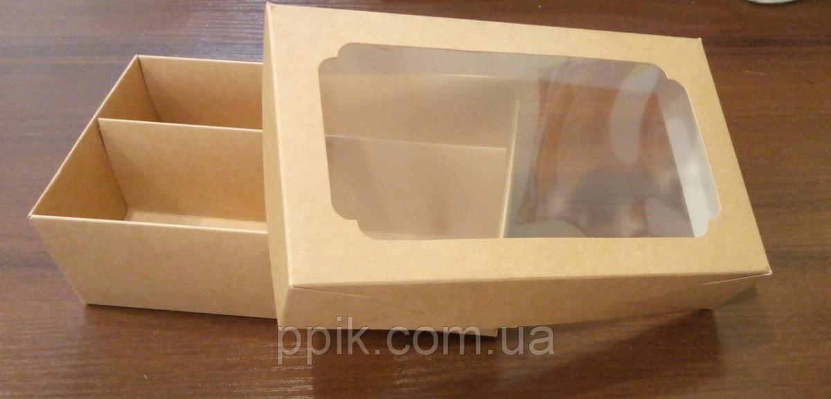 Коробка КРАФТ 200*120*60 для макаронс (Упаковка 3 шт.)