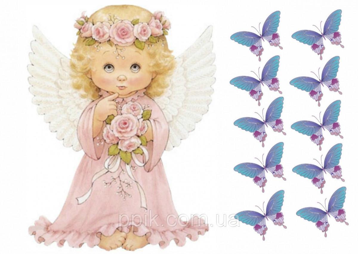 Вафельная картинка Ангел 2