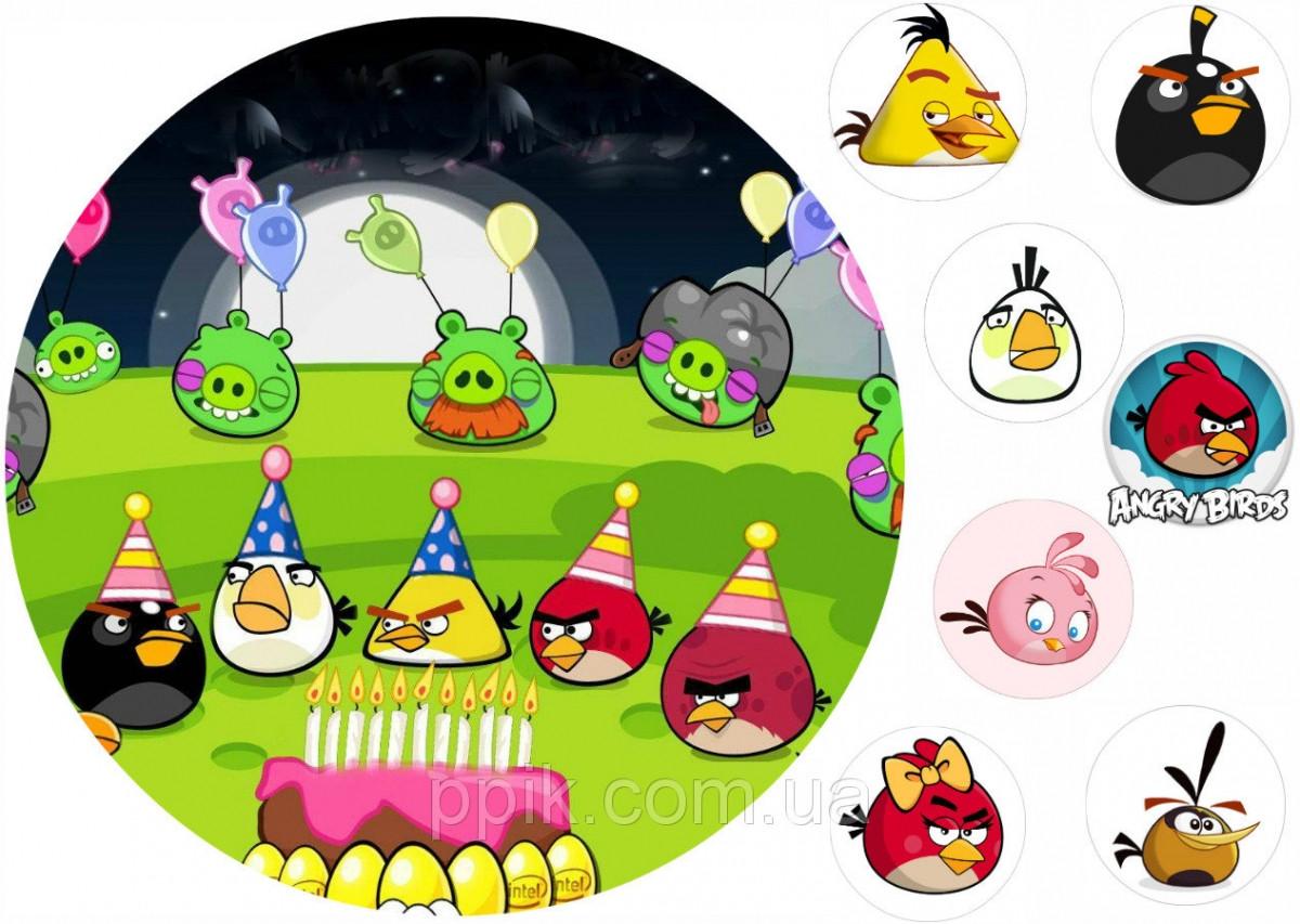 Вафельная картинка Angry Birds/Злые птички 6