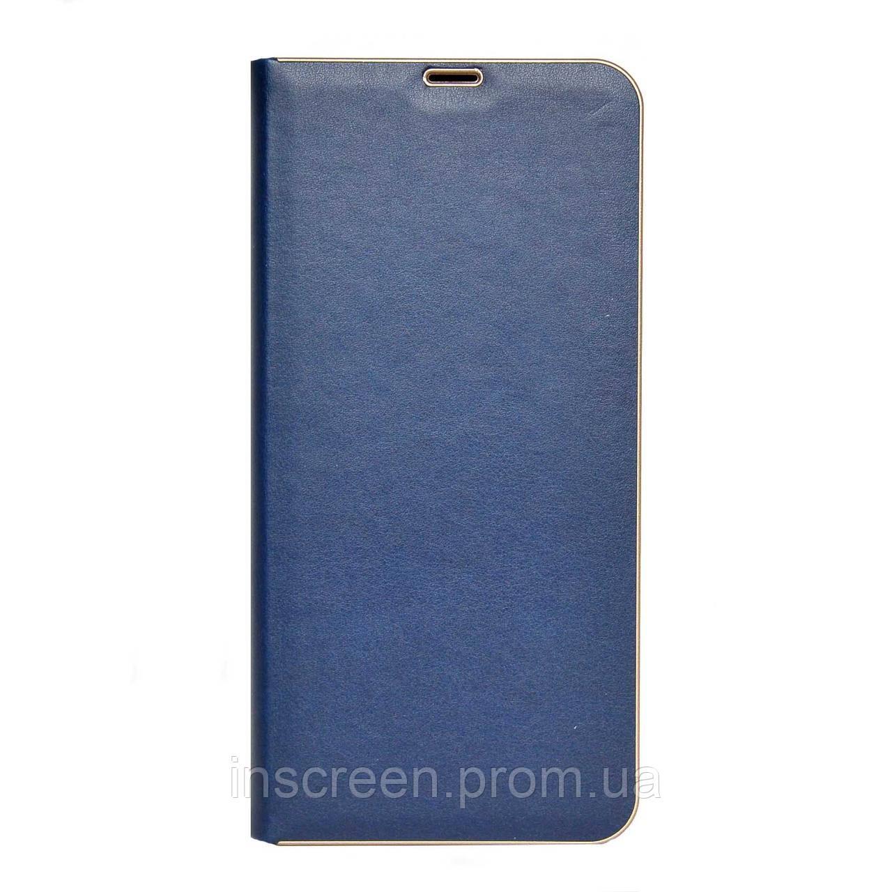 Чохол-книжка Florence TOP 2 Xiaomi Redmi Note 9S, Note 9 Pro під шкіру синій