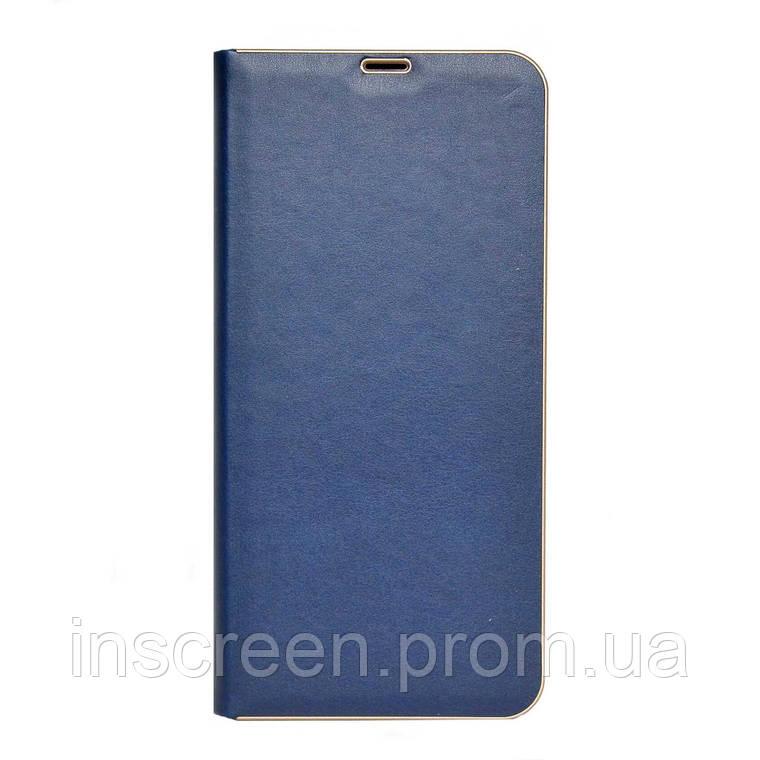 Чохол-книжка Florence TOP 2 Xiaomi Redmi Note 9S, Note 9 Pro під шкіру синій, фото 2