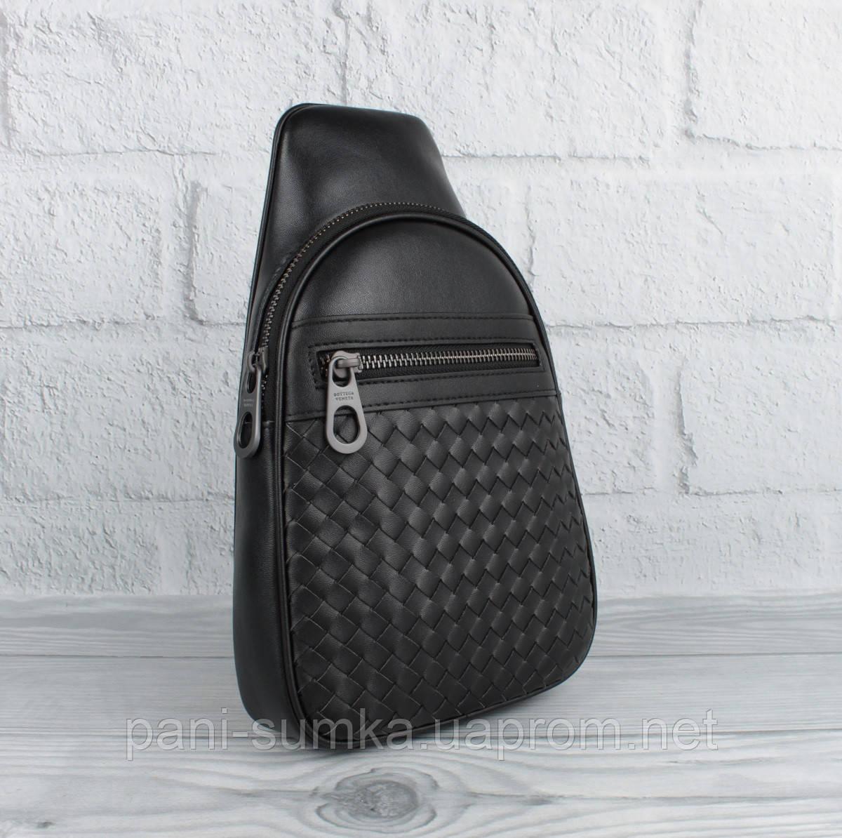 Мужская кожаная сумка-слинг через плечо, рюкзак BV 22668-3, переплет
