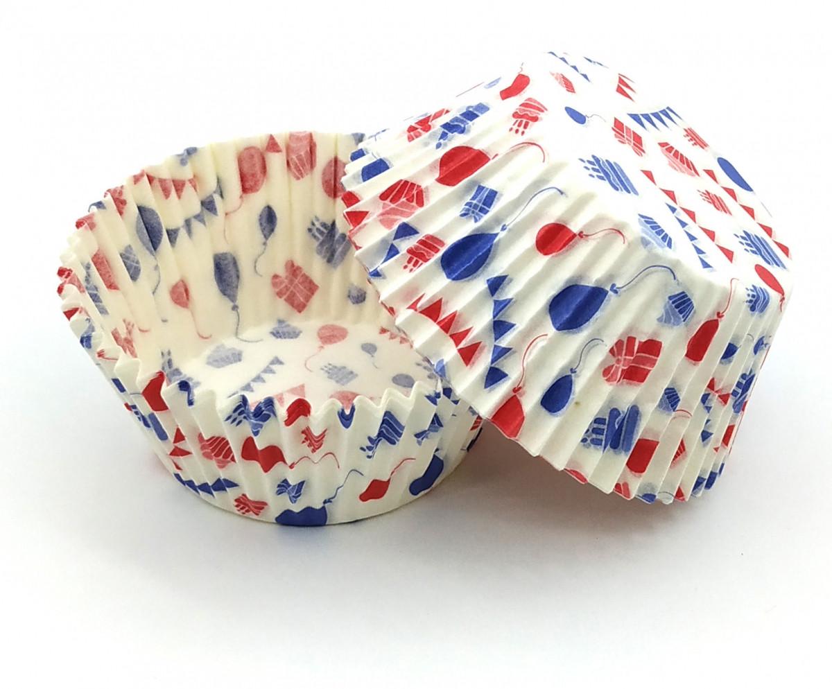 Тарталетки (капсулы) бумажные для кексов, капкейков Праздник