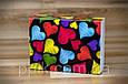 Коробка для 115*155*50 для 12 макаронс Разноцветные сердца (Упаковка 3 шт.), фото 2