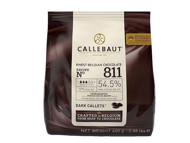 Бельгийский Черный шоколад 54,5 % Barry Callebaut 400 грамм