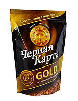 """Кофе растворимый """"Черная Карта"""" Gold м\п 130г."""