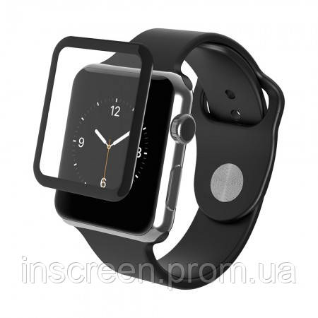 3D Захисне скло Apple Watch 1, Watch 2, Watch 3 38mm матове, чорне, фото 2