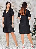 Стильное женское платье  батал с 48 по 62 рр трикотаж, фото 3