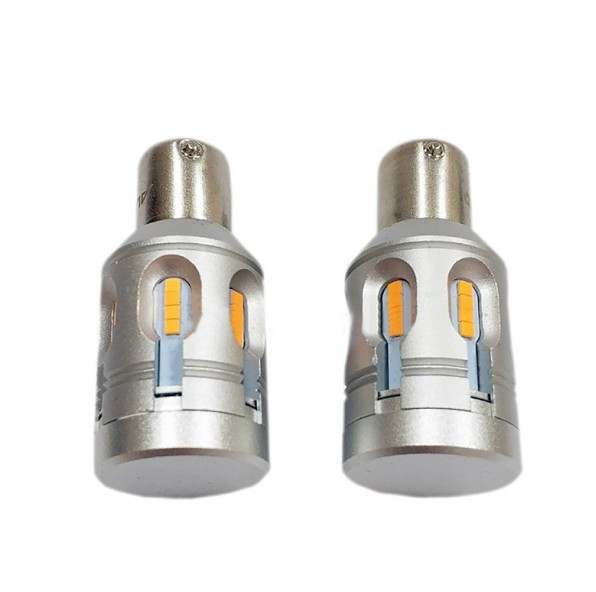 LED лампа ALED 1156 T20 (PY21W) Yellow Canbus (P28443)