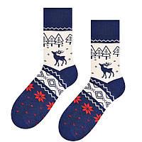 Зимние теплые мужские носки Steven с оленями и узорами