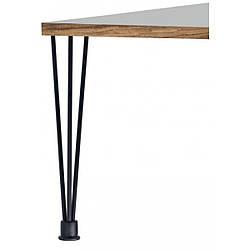 Опора мебельная трубчатая тройная с регулировкой Kapsan KMA-0005 h=710 мм Черная (KMA-0005-0710-B13)
