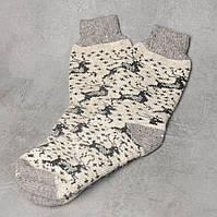 Мужские шерстяные носки, зимние тёплые носки c оленем, размер 41-44, фото 1