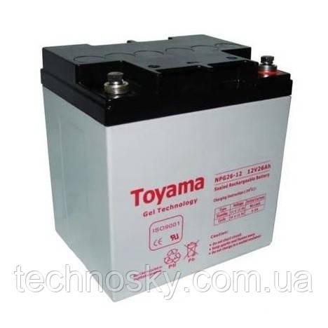 Гелева батарея Toyama NPG 26-12 (12В , 26Ач)