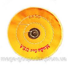 """Круг полировальный муслиновый желтый d-140мм 6""""x50 слоёв"""